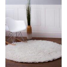 Handmade White Area Rug