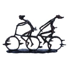 Polystone Bike Figurine