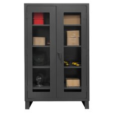 Extra Heavy Duty Welded 12 Gauge Steel Clearview Lockable Storage Cabinet