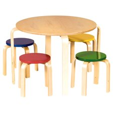 Anrey Kids 5 Piece Table & Stool Set