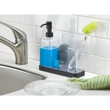 Forma Kitchen Soap Dispenser Pump, Sponge, Scrubby and Dish Brush Caddy Organizer