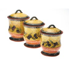 French Olives 3 Piece Storage Jar Set