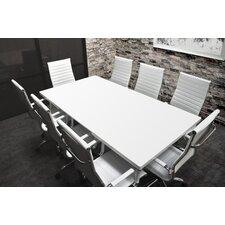 Lucidum 9 Piece 6' Rectangular Conference Table Set