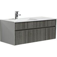 "Brockman 48"" Single Modern Bathroom Vanity Set"