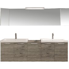 "69"" Double Modern Bathroom Vanity Set"