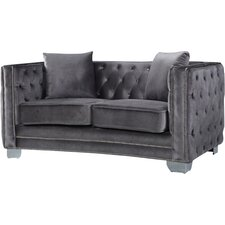 Creekside Velvet Chesterfield Loveseat