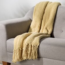 Sidon Tweed Knitted Throw Blanket