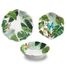 Cheshire Melamine Floral 12 Piece Dinnerware Set