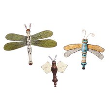 3 Piece Dragonflies and Bee Wall Décor Set