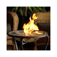 Crystal Stainless Steel Natural Gas and Propane Fire Pit