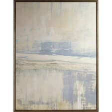 foggy morning canvas framed painting print