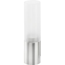Small Stainless Steel Frosted Glass Hurricane Tabletop torch (Set of 3)