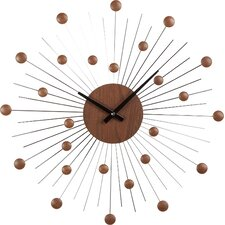 Round Solid Wood Clock