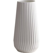 White Textured Table Vase