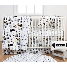 Aztec 3 Piece Crib Bedding Set