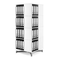 "Cube Binder and File Carousel 61"" H Four Shelf Shelving Unit"