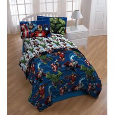 Avengers 4 Piece Twin Comforter Set