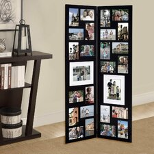 26 Opening Decorative Wood Folding Floor-Standing Photo Collage Picture Frame