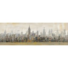 Skyline Painting Print on Wrapped Canvas