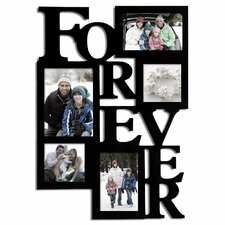 5 opening decorative wood forever collage wall hanging picture frame