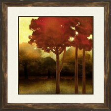 'Fluffy Trees' 2 Piece Framed Painting Print Set