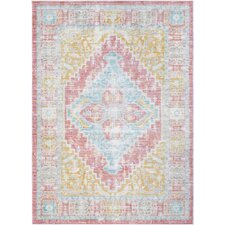 Fields Contemporary Pink Area Rug