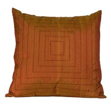 Pyramide Silk Throw Pillow