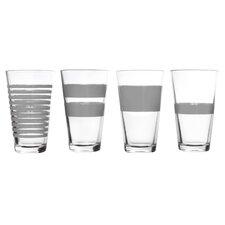 4-tlg. Saftglas-Set Longdrink