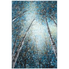 Revealed Artwork Into The Trees Painting on Wrapped Canvas