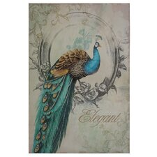 Peacock Poise I Graphic Art on Wrapped Canvas