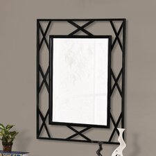 Breana Rectangle Black Frame Metal Mirror