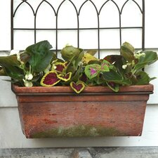 Terracotta Wall Planter with Trellis