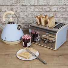 Retro 2L Pyramid Kettle and 4 Slice Toaster Set