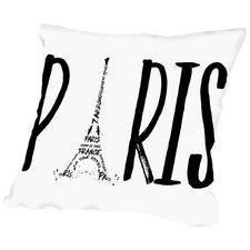 Paris Typography Throw Pillow