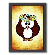 'Cool And Funny Owl Bird' Framed Graphic Art