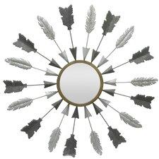 Arrows Circular Metal Wall Mirror