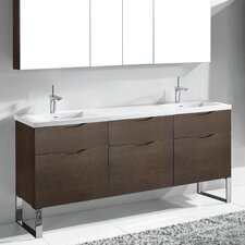 "Milano 72"" Double Bathroom Vanity Set"