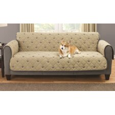 Sofa Embroidered Furniture Pet Protector with Non-slip Backing