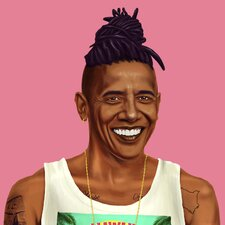 'Obama' by Amit Shimoni Painting Print on Wrapped Canvas