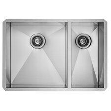 Alma 29 inch Undermount 75/25 Double Bowl 16 Gauge Stainless Steel Kitchen Sink