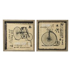 '2 Wheels Bicycle'  Framed Painting Print on Canvas