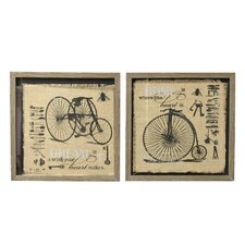 '3 Wheels Bicycle'  Framed Painting Print on Canvas