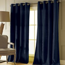 Karina Solid Semi-Sheer Grommet Curtain Panels (Set of 2)