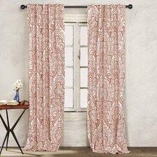 Adriana Paisley Sheer Rod pocket Curtain Panel (Set of 2)