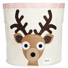 Deer Cotton Canvas Storage Bin