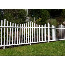 3.5' x 7.7' Manchester Semi Permanent Vinyl Picket Fence Kit (Set of 2)