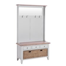 Chalky 3 Drawer Hall Tree with Basket Drawer