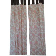 Paisley Window Curtain Panels (Set of 2)