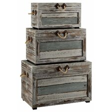 Rushmore 3 Piece Weathered Wood Trunk Set