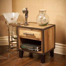Kellan 1 Drawer Acacia Wood Nightstand